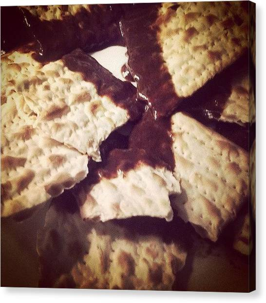 Passover Canvas Print - Favorite Part Of #passover Chocolate by Heather Rorvick