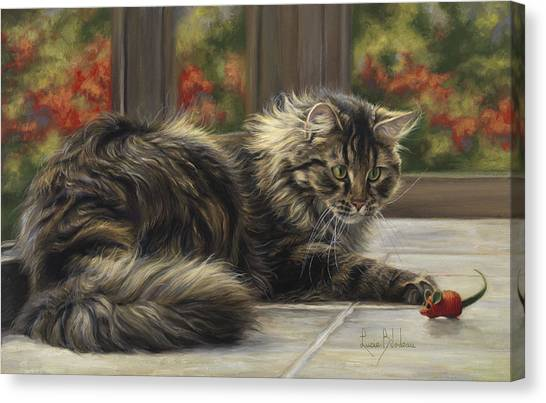 Indoors Canvas Print - Favorite Toy by Lucie Bilodeau