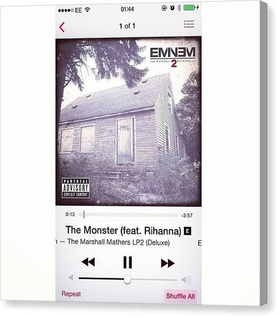 Rihanna Canvas Print - #favourite #song #amazing #eminem by Sophie Hayes