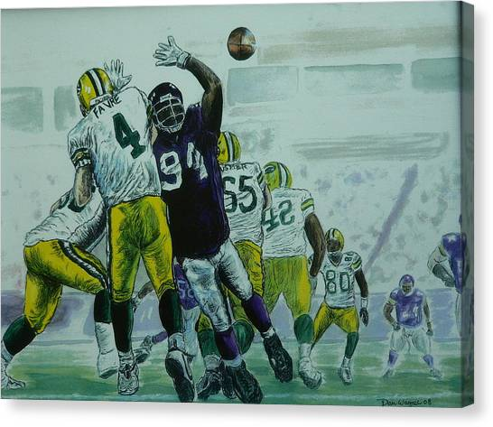 Favre Vs The Vikes Canvas Print