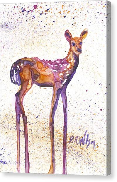 Fawn Rising Canvas Print