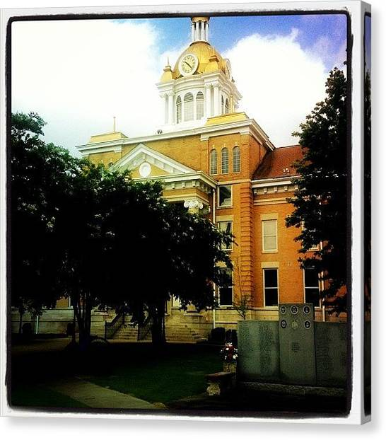 United States Of America Canvas Print - Fayette,al Courthouse by Scott Pellegrin