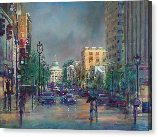 Fayetteville Street First Light Canvas Print