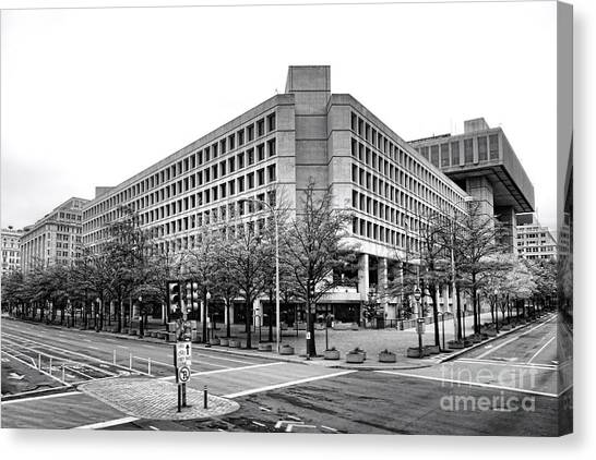 D.c. United Canvas Print - Fbi Building Front View by Olivier Le Queinec