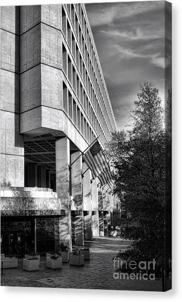 Fbi Canvas Print - Fbi Building Modern Fortress by Olivier Le Queinec