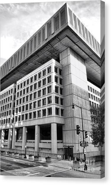 Fbi Canvas Print - Fbi Building Rear View by Olivier Le Queinec