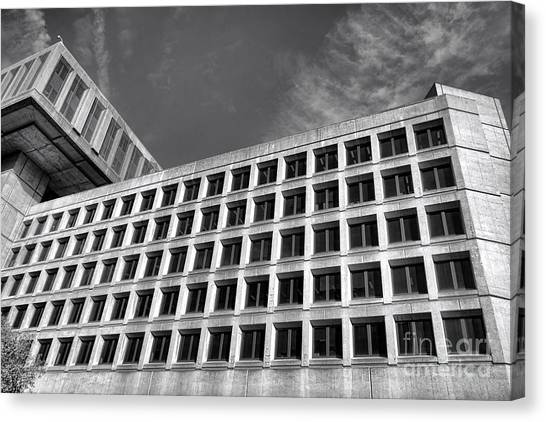 D.c. United Canvas Print - Fbi Building Side View by Olivier Le Queinec