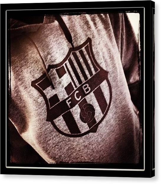 Soccer Teams Canvas Print - Fc Barcelona by Bartosz Topolski
