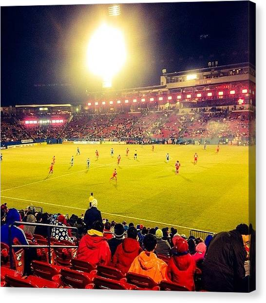 Soccer Canvas Print - Fc Dallas #cold #mls #dtid #iphone5 by Scott Pellegrin