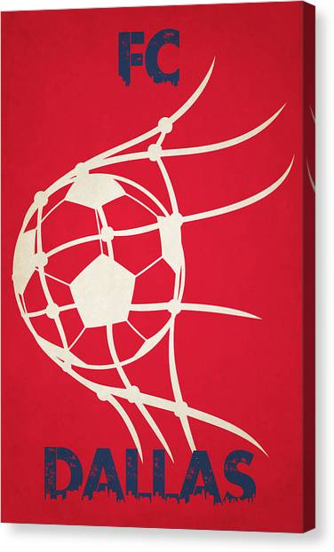 Soccer Teams Canvas Print - Fc Dallas Goal by Joe Hamilton