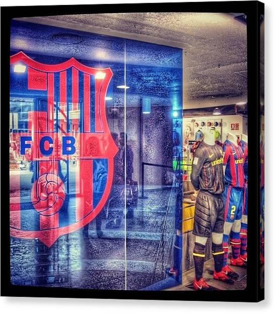 Football Teams Canvas Print - FCB by Sara A