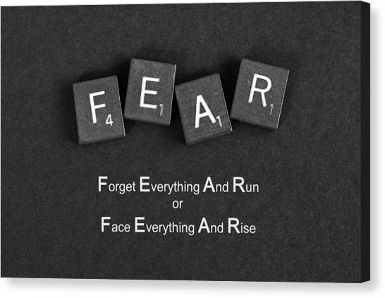 Fear Inspirational Quote Canvas Print