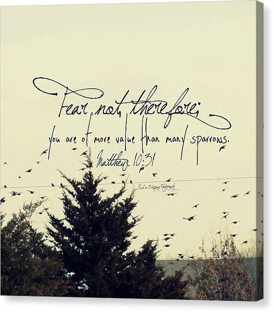 Flying Canvas Print - fear Not, Therefore;  You Are Of More by Traci Beeson