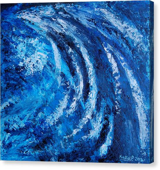Fear Of Hurricane Canvas Print by Peter Kallai