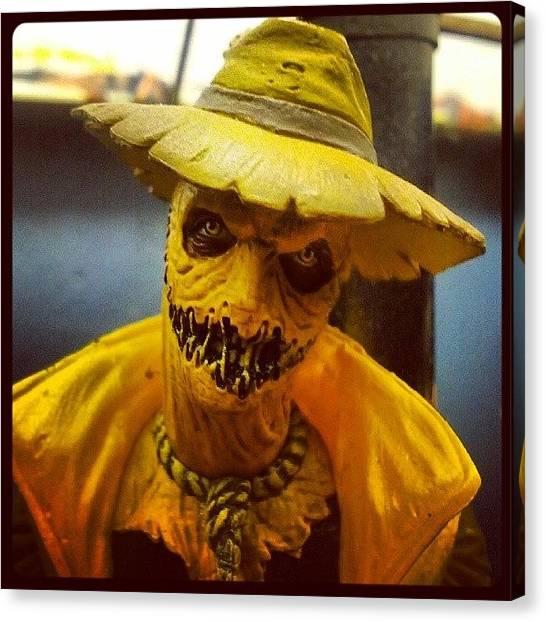 Scarecrows Canvas Print - Fear #scarecrow #yellowlantern #dc by Ian Aspden