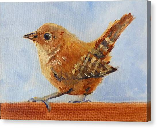Wrens Canvas Print - Feathered by Nancy Merkle