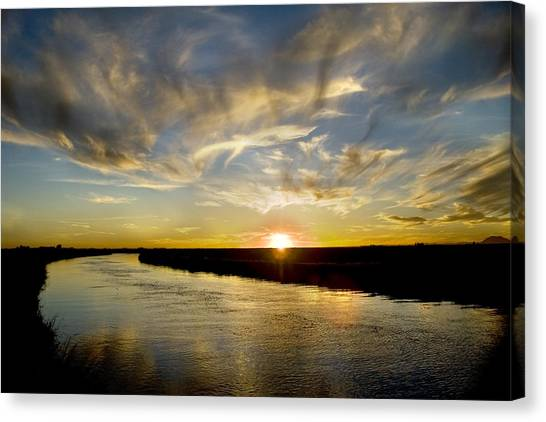 Feathered Sunset Canvas Print
