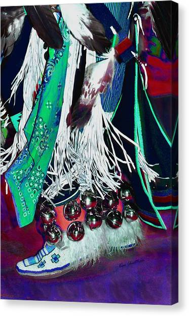 Beadwork Canvas Print - Feathers Fringe And Bells by Kae Cheatham