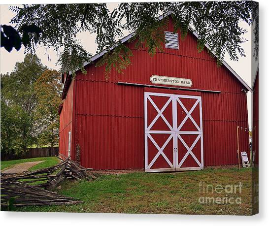 Featherstone Red Barn Canvas Print
