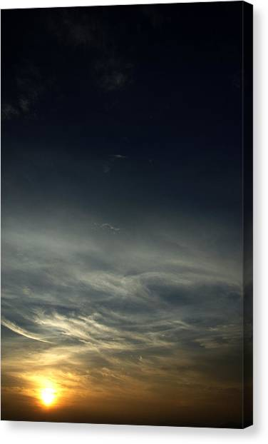 Feathery Clouds Canvas Print