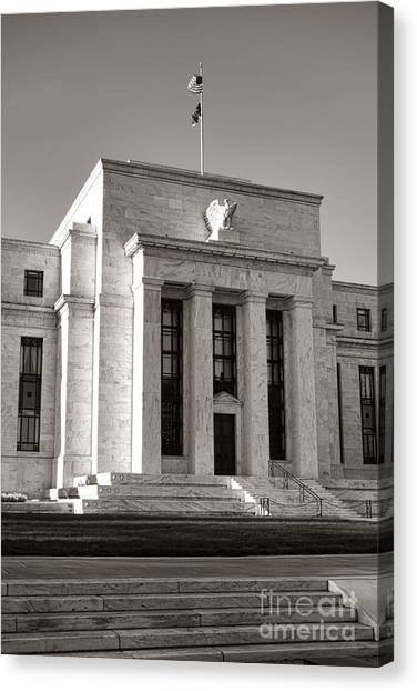 Washington D.c Canvas Print - Federal Reserve by Olivier Le Queinec