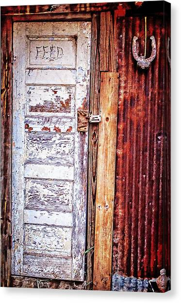 Feed Room Door Canvas Print by Kelly Kitchens