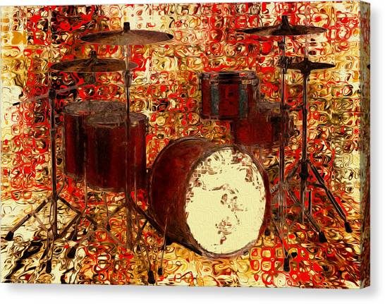 Snares Canvas Print - Feel The Drums by Jack Zulli