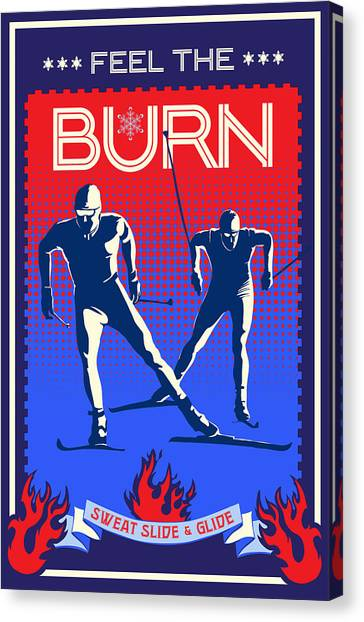 Snowflakes Canvas Print - Feel The Burn Xski by Sassan Filsoof