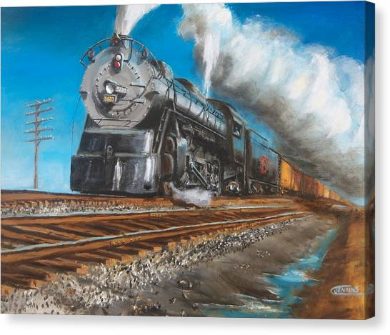 Freight Trains Canvas Print - Feel The Ground Shake by Christopher Jenkins
