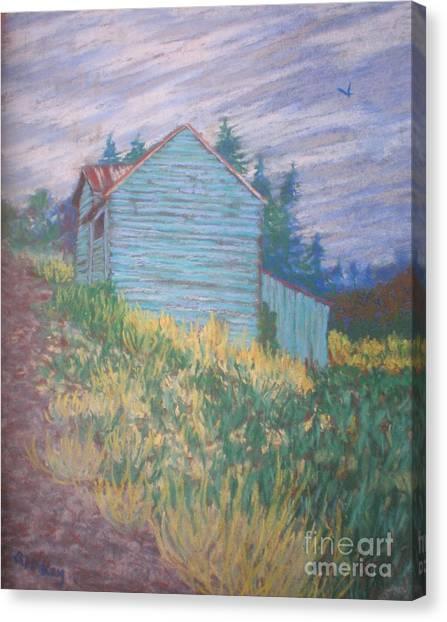 Feelin' Blue In Troutdale Canvas Print