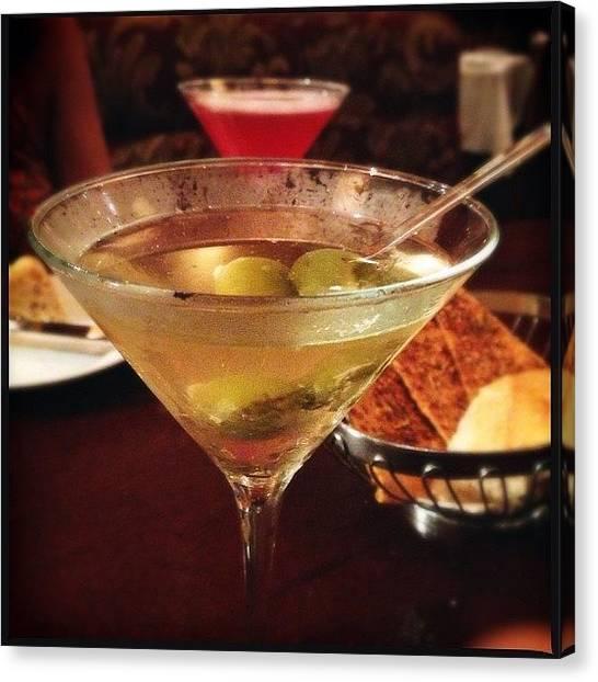 Martini Canvas Print - Feeling A Little dirty Tonight by Molly Slater Jones