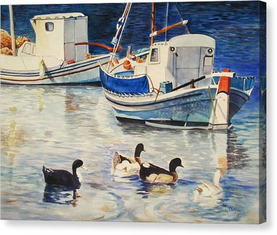 Feeling Ducky Canvas Print by Terri  Meyer