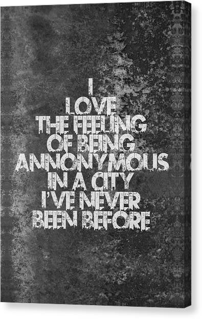 Word Art Canvas Print - Feeling Quotes Poster by Lab No 4 - The Quotography Department