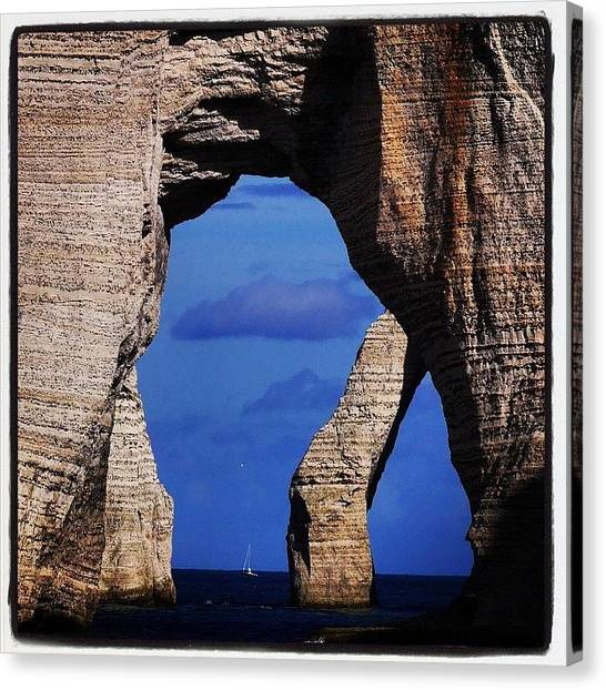 Etretat Canvas Print - Feeling So Small #etretat #falaises by Celine Biz