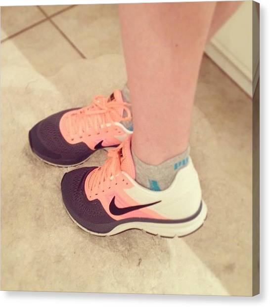 Pegasus Canvas Print - #feet #nike #shoes #new #fitgirl by Emily Sheridan
