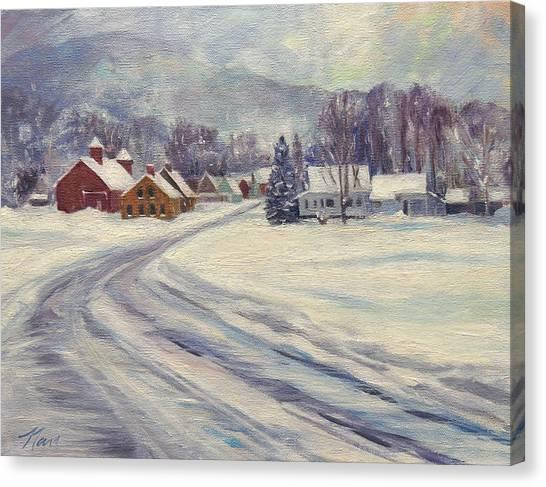 Felchville Village In The Snow Canvas Print