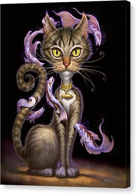 Tabbies Canvas Print - Feline Fantasy by Jeff Haynie