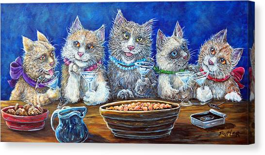 Felines After Five Canvas Print