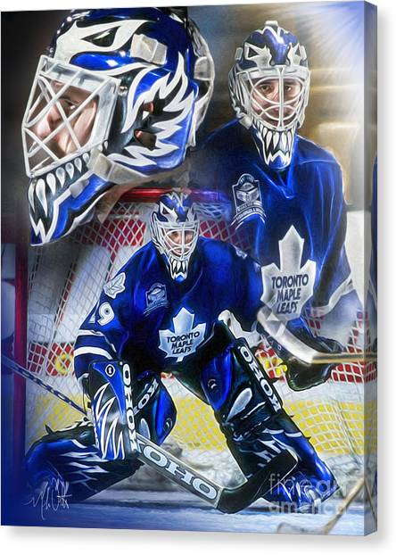 Toronto Maple Leafs Canvas Print - Felix The Cat by Mike Oulton