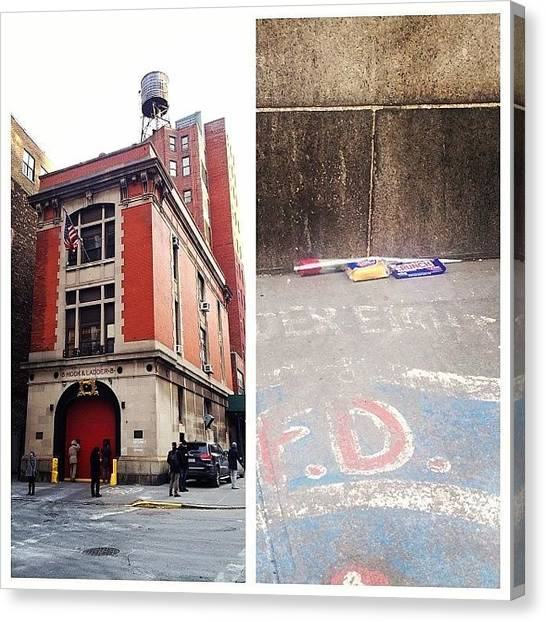 Ghostbusters Canvas Print - Felt Compelled To Visit Hook & Ladder 8 by Allison Clayton