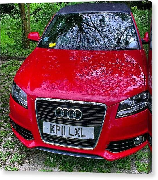 Audi Canvas Print - Felt Like Pranking The Driver With My by Barbast B