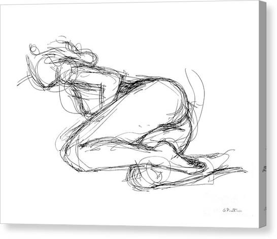 Female-erotic-sketches-8 Canvas Print