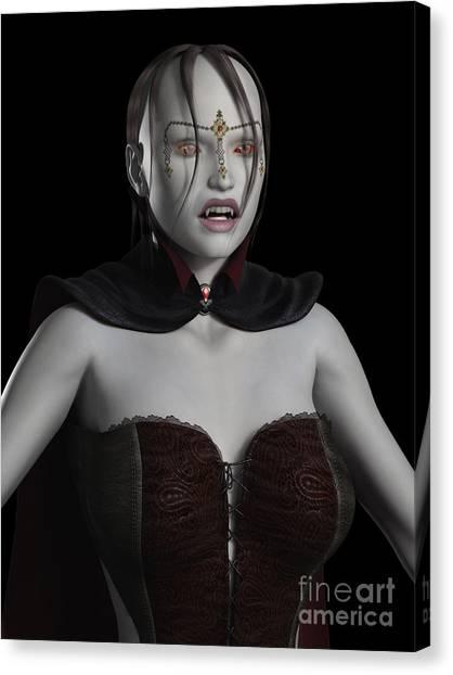 Female Vampire Portrait Digital Art By Fairy Fantasies