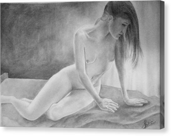 Feminine V Canvas Print by Suvam Majumder