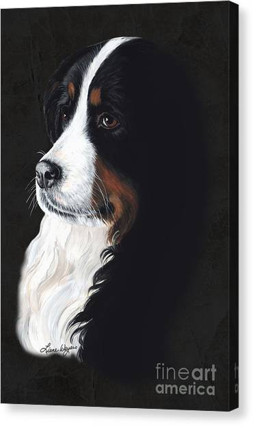 Bernese Mountain Dogs Canvas Print - Femme Fatail by Liane Weyers