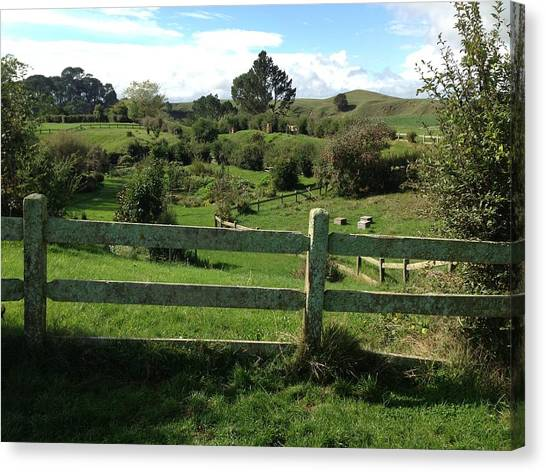 Fence And Beyond Canvas Print by Ron Torborg