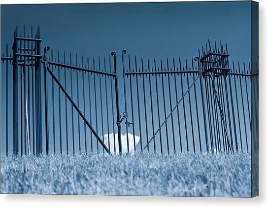 Fence And Cloud Canvas Print