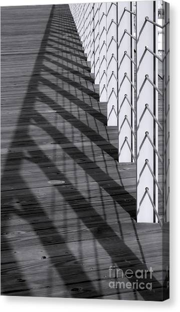 Fence And Shadows Canvas Print