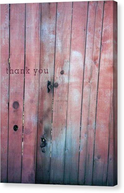 Indian Canvas Print - Fence Indian  And A Reminder To Utter The Words Thank You. by Raenell Ochampaugh