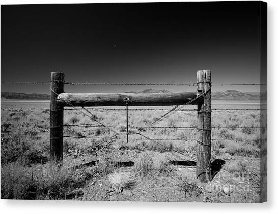 Fence Posts Canvas Print by Rick Rhay